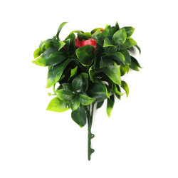 Whosale matéria plástica artificial coloridas flores artificiais ramos deixa verde para a decoração da casa