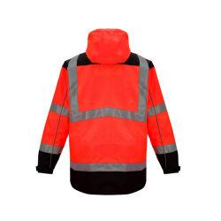 La sicurezza ha personalizzato ciao cioè l'usura impermeabile riflettente funzionante di riciclaggio del lavoro dell'abito