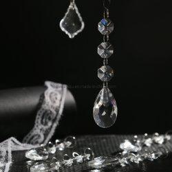 Verre clair 16mm octogone chaîne de perles en Cristal lustre en cristal