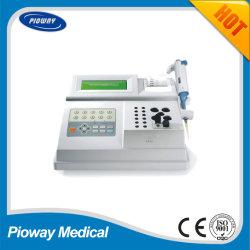 El analizador de doble canal de la Coagulación / Precio analizador portátil de la coagulación sanguínea (CA52)