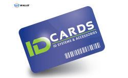 El PVC/PC/PET/Material PETG Cr80 85.6*54mm ID/Don/VIP Afiliación/Nombre/tarjeta de crédito Visa/inyección de tinta para imprimir en blanco de plástico blanco de la tarjeta RFID