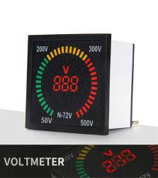 72 mm*72 mm forma della scatola 0-550 V indicatore CA voltmetro voltmetro voltmetro voltmetro voltmetro LED misuratore di tensione Display digitale