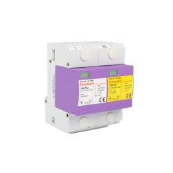 Klasse I Iimp10/350 25ka UC 255V Tt 1+1 Beschermer van de Bliksem van de Stroomstoot van Sparkgap van het Systeem Pluggable