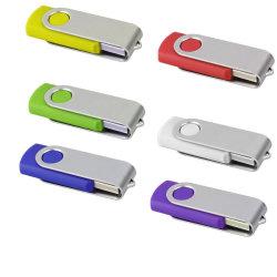 10PCS lotto di tasto del metallo del disco dell'azionamento U della penna del bastone di memoria Flash 32GB 16GB 8GB 4GB USB2.0