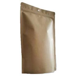 Bio Gradable Kraft Paper Aluminum이 있는 Zipper Pouch를 위로 올립니다 호일 재질