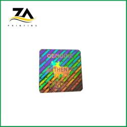 Laser de Anti-Contrafacção) hot stamping impressão de etiquetas autocolantes com holograma impresso