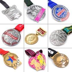 Fabricante profissional Whoesale design 3D liga de zinco Personalizada Medalha Prêmio Blank Sport Disco Esmalte Medalha militar com fita de Medal of Honor