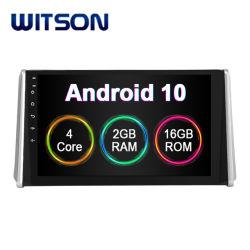 "Witson 10.2 "" 인조 인간 10 Toyota RAV4 2019년에서 큰 스크린 차 DVD 플레이어 GPS"