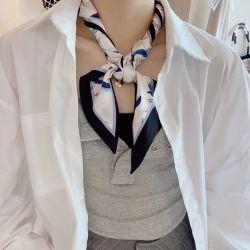 Square Fashion petit bracelet de cheveux des femmes bande accessoire de mode pour l'Écharpe de soie