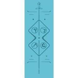 Stuoia antiscorrimento del ginocchio di yoga dell'unità di elaborazione di stampa di Minnee per lo studio di yoga