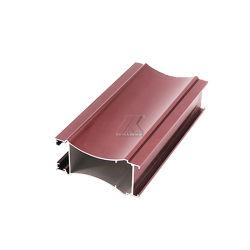 Meilleur prix du bois d'aluminium de couleur Section de la fenêtre du châssis de porte en aluminium de ménage de profil