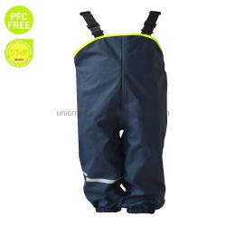 基本的なかわいい子供PU雨によっては胸当て雨ズボンが喘ぐ