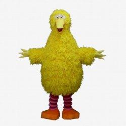 Het grote Gele Kostuum van de Mascotte van de Vogel