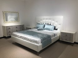 Chambre à coucher Mobilier de luxe en cuir antique lit King Size