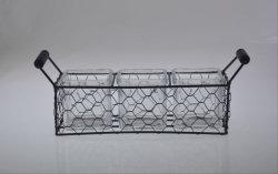Bougie en verre Hand-Made Stand-Big titulaire avec la taille de métal