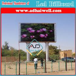 P16 impermeável Publicidade Viedo Digital LED outdoor com estrutura de aço