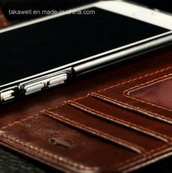 iPhone 5/Se6/6s Genuine Leather Case를 위한 Photo Frame를 가진 낮은 Price Custom Design Leather Case