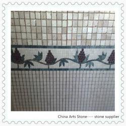 Marmorsteinmosaik, Travertin-Mosaik, stolperte Mosaik, Natur-Mosaik, Wand-Mosaik