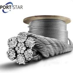 22mm de diámetro 6*37+Iwr Cable Metálico de acero para el amarre