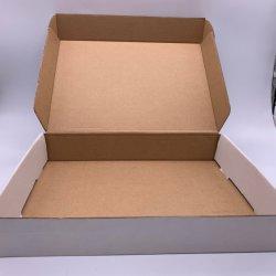 주문 보통 백색 출하 판지 상자를 포장하는 로고 디자인에 의하여 주름을 잡는 우편물