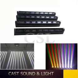 8*10W Bar CREE LED de Movimentação do feixe