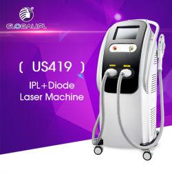 Machine de IPL et de diode laser d'épilation permanente