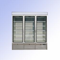 Dispositivo di raffreddamento di vetro della visualizzazione del portello delle tre radure della bevanda di vetro del frigorifero