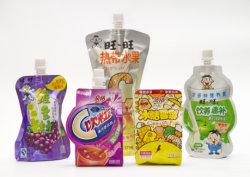 Suporte de plástico até comida da boca de Bolsa de retorta para embalagem de sumo