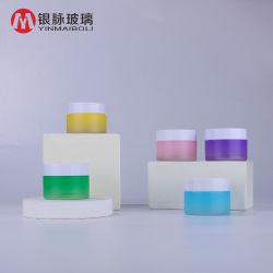 장식용 크림 단지 30g는 개인적인 피부 관리를 위한 다채로운 콘테이너 유리병 단지를 살포하는 관례를 지운다