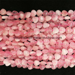 Branello Hearted di cristallo naturale del quarzo di Rosa di modo della pietra semi preziosa