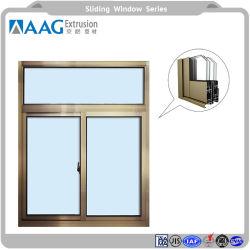 Revêtement en poudre et de la vitre de porte coulissante Profil en aluminium