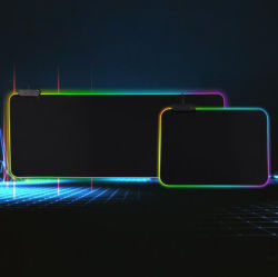لوحة مفاتيح الألعاب لوحة مفاتيح ألعاب RGB مضيئة لوحة مفاتيح سطح المكتب وسادات ماوس إضاءة قابلة للضبط مقاومة الانزلاق ماوس من المطاط الطبيعي وماوس ضوء RGB PAD حجم مخصص USB