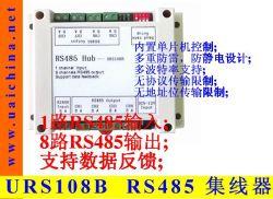 Mozzo di Urs108b RS485/divisore, 1 input della Manica, un'uscita delle 8 Manica. Comunicazione in semiduplex