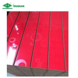 لوح Matt High Gloss Red Melamine Slatwall Board