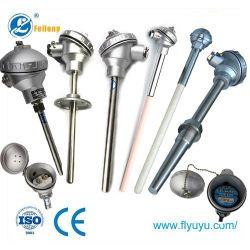 Sensor de temperatura 0-1600c 16mm de diâmetro SS304 Tipo S R B K J N Termopar de cerâmica