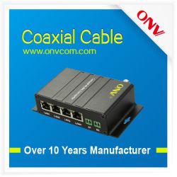 10/100m Ethernet через коаксиальный Eoc преобразователь с 1 разъемами BNC, 4 порта RJ45