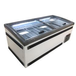 L'île d'affichage réfrigérés pour la viande de cas d'aliments congelés usine OEM