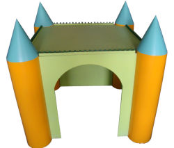 Sala de estar al aire libre del perro del estilo del lápiz (pH-002)