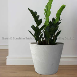 IndoorおよびOutdoorの庭PlanterのためのStone EffectのホームDecoration Plastic Round Flower Pot Plant Pot