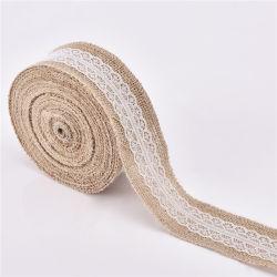 Tissu de jute naturelle de grande qualité pour l'emballage de ruban