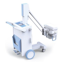 En la D5100 digital móvil del hospital de la máquina de rayos X.