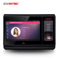 Android Market Nfc biométrico TCP/IP 13.56MHz Leitor de Smart Card com WiFi, 3G