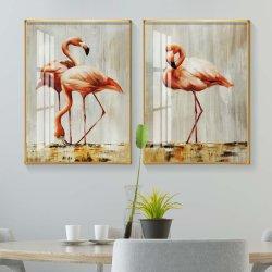 Tableau-mur Flamingo art Porcelaine de cristal de la peinture la photographie de mode Photo sur toile imprime des affiches Room Decorsize 20x30 pouces