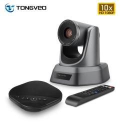 Videocamera per conferenze Tongveo 10X Zoom Full HD PTZ USB Gruppo uscita+Vivavoce