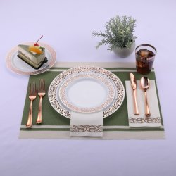 175PCS Silver Plates met disposable plastic zilverwerk&bekers &hand Napkins