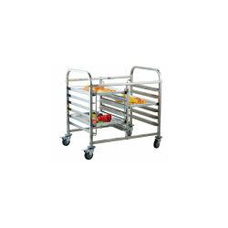 Fabricante de China para el transporte de acero inoxidable Gastronorm carro pequeño rack