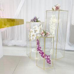 2020 Nuevo diseño de acrílico transparente Venta caliente Pastel de Bodas mesa para la decoración de boda