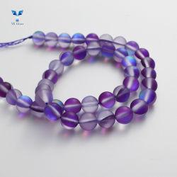 Rondelle de gros de perles en cristal violet pour la fabrication de bijoux