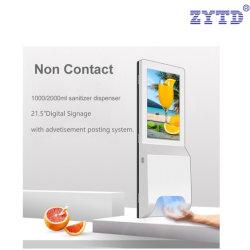 21,5 polegadas Android Interior Autoportante quiosque com Purificador de mão automático