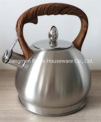De Apparatuur van de keuken, de Theepot van het Roestvrij staal van 3.0 Liter met de Handvatten van de zacht-Aanraking